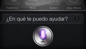 Muestra de Siri en iPhone
