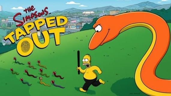 Actualización de Los Simpsons con apaleamiento