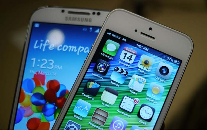 iphone 5 y galaxy s4