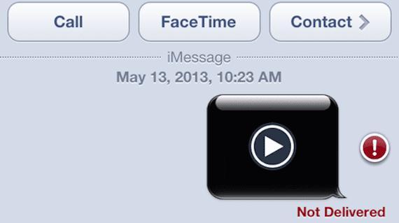 Vídeos largos en mensajes