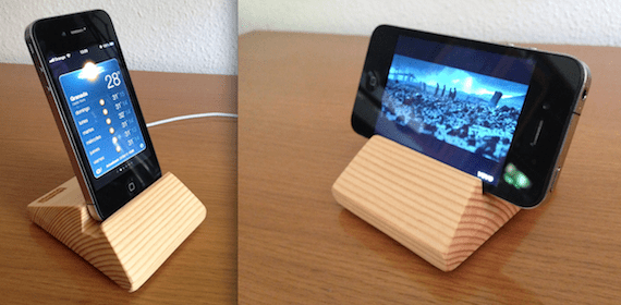 Woody dock mountain para iphone an lisis y promoci n sowood for Soporte para movil mesa