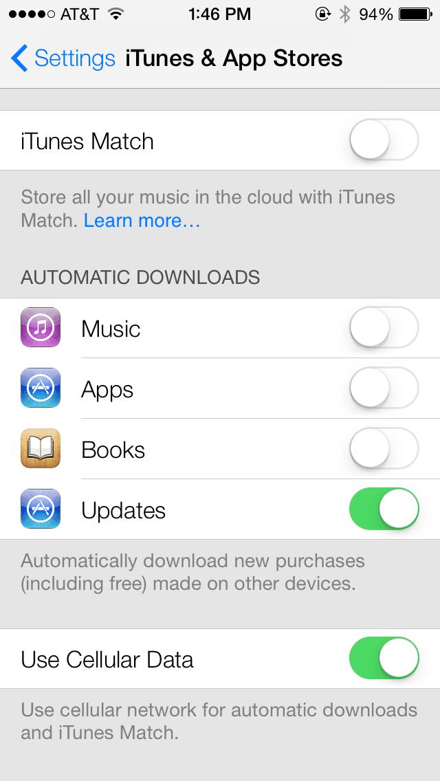 actualizacion apps ios 7