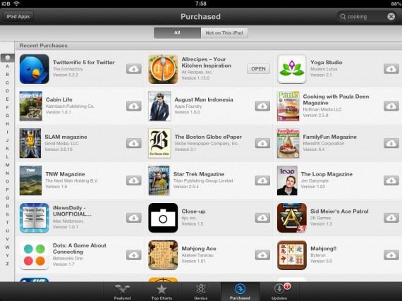 App Store para iPad