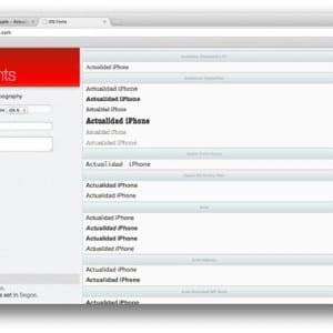 iOSFonts com, una web que reúne las fuentes de texto usadas