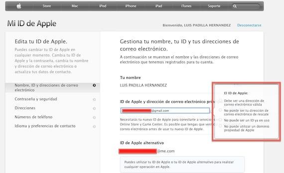 Cómo Cambiar El Correo Electrónico Asociado A Tu Apple Id