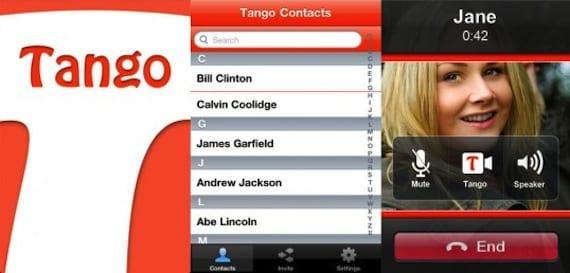 Aplicación Tango para iOS