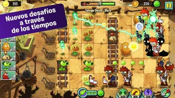 Juego Plantas vs Zombies 2
