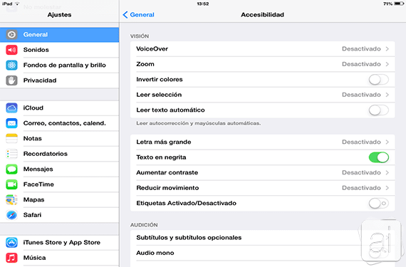 Accesibilidad Texto
