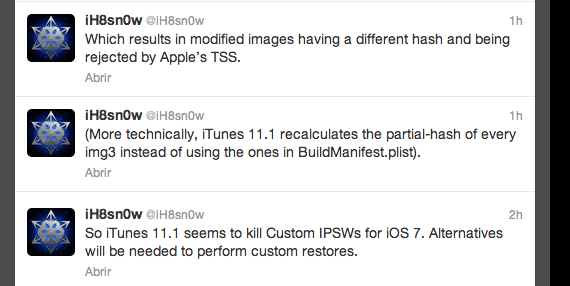 iTunes 11.1 Custom Firmwares