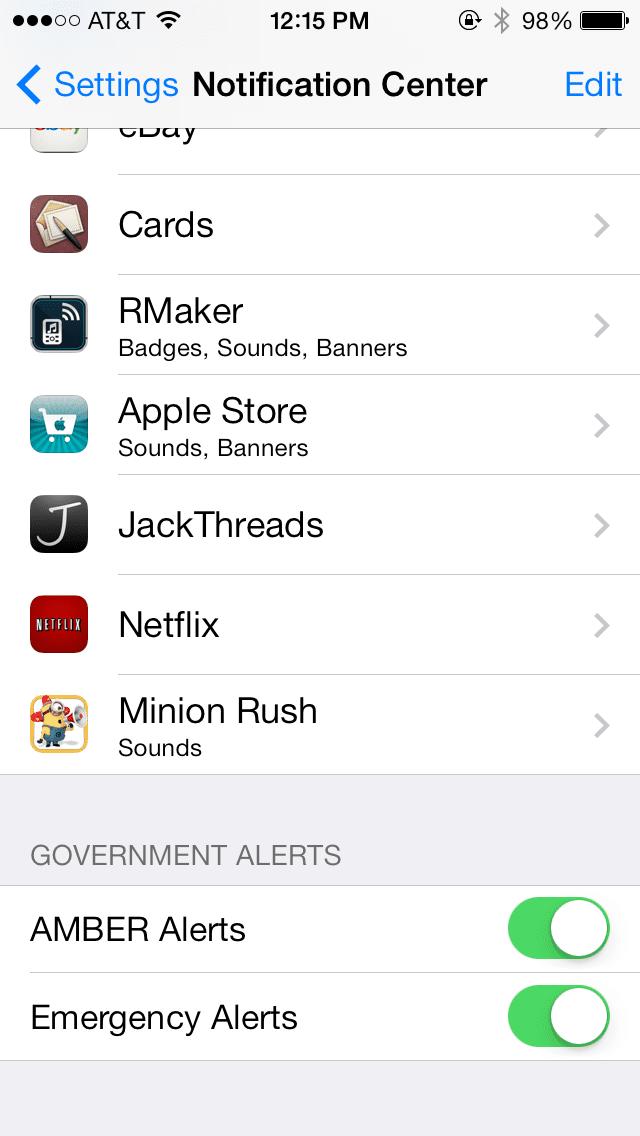 alertas gobierno iOS