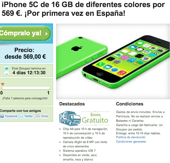comprar iPhone 5C