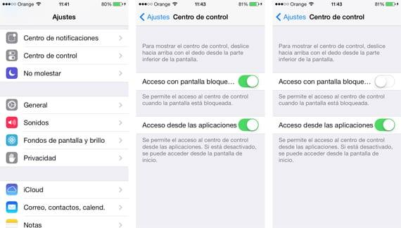 Desactivar centro de control en iOS 7