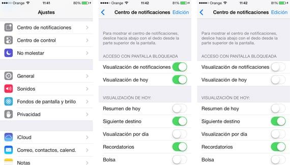 Desactivar centro de notificaciones en iOS 7