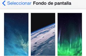 Fondos Parallax para iOS 7