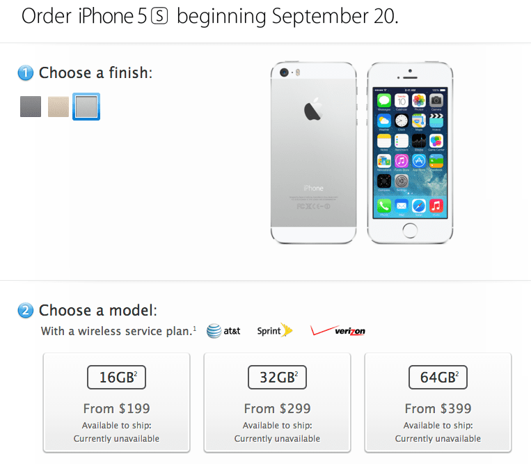 iphone 5s compra