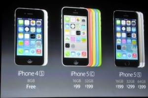 iPhones a la venta en 2013