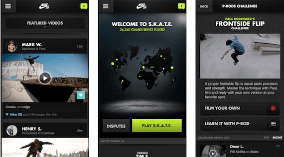 Aplicación Nike SB