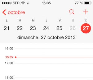 Error en el Calendario de iOS