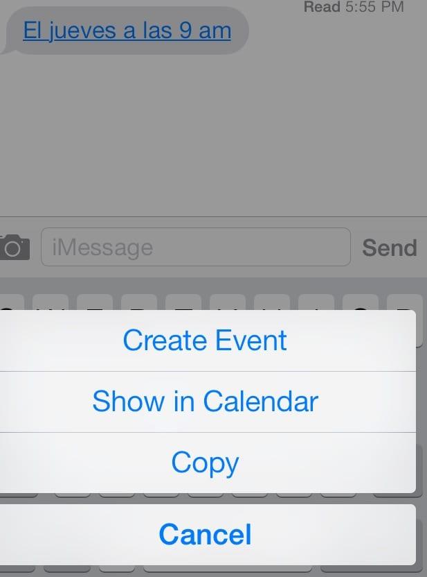 crear eventos ios 7