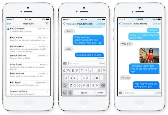 Funcionamiento iMessage en iOS 7