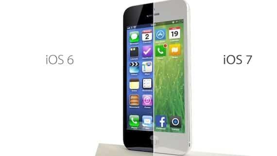 iOS 7 comparación conceptual con IOS 6
