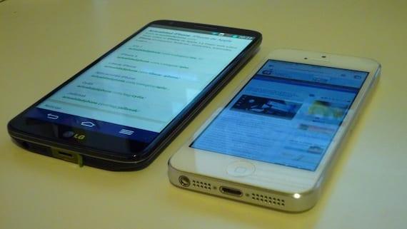 iPhone 5 vs LG G2