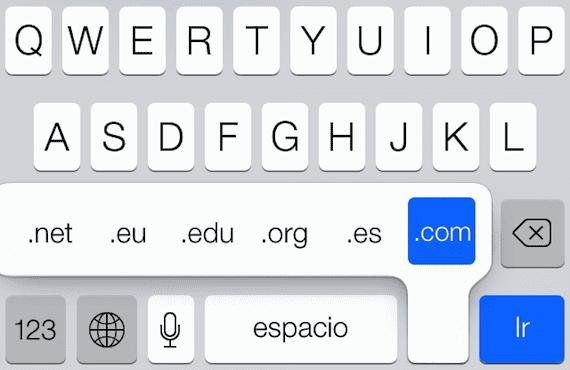 Teclado de iOS 7