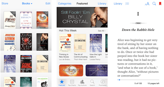 Nuevo diseño de iBooks