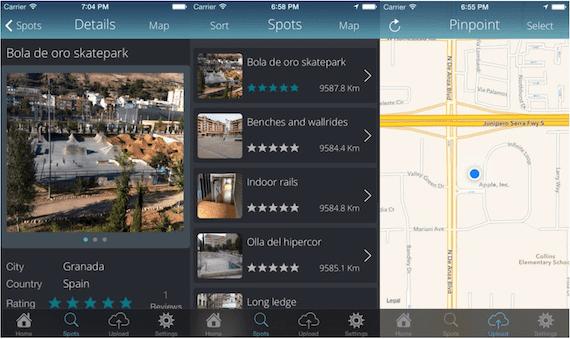 Capturas de pantalla de la aplicación My Spots