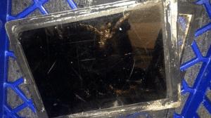 iPad quemado en la tienda