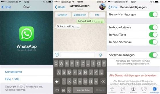 Whatsapp para iOS 7 en video
