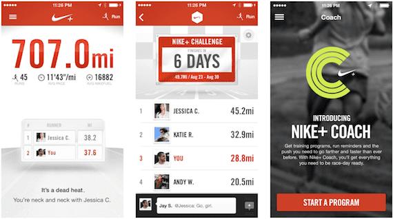 Aplicación Nike+ Running