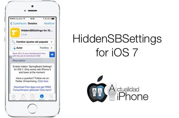 HiddenSettings7 descubre opciones ocultas de iOS 7 (Cydia)