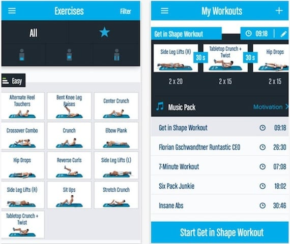 Aplicación Runtastic Six Pack Abs