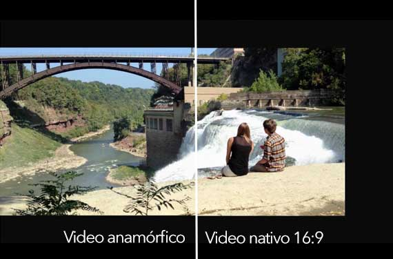 Anamórfico vs nativo