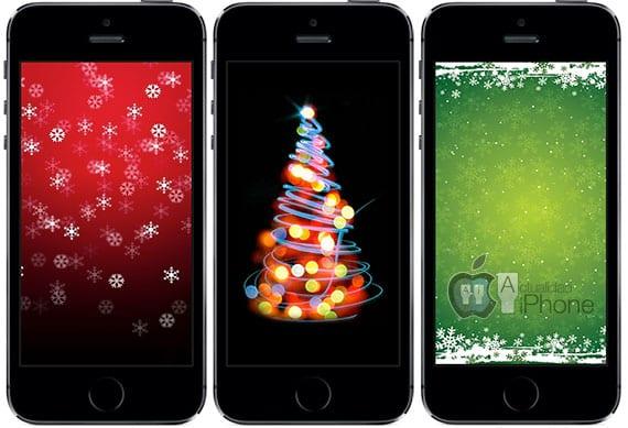 fondos navideños iphone