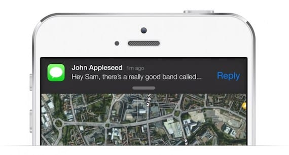 Concepto de notificaciones interactivas en iOS 8