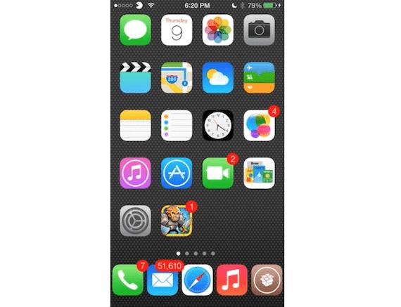 Tweak Five Icon Dock