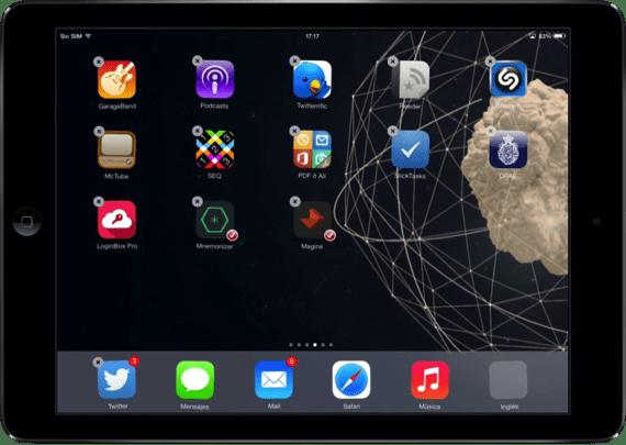 Seleccionamos todas las apps que queramos mover a la vez