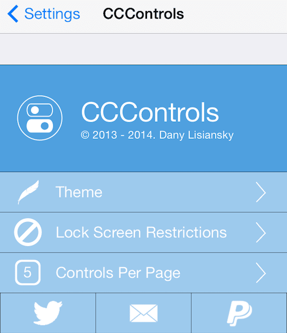 CCControls preferencias