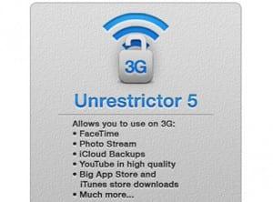 actualización unrestrictor 5 3G