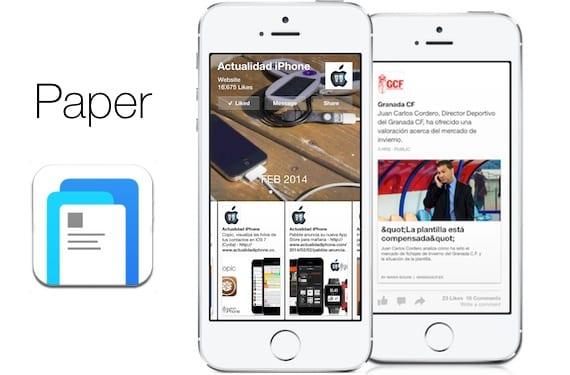 Paper, la nueva aplicación de Facebook, disponible ya en la App Store