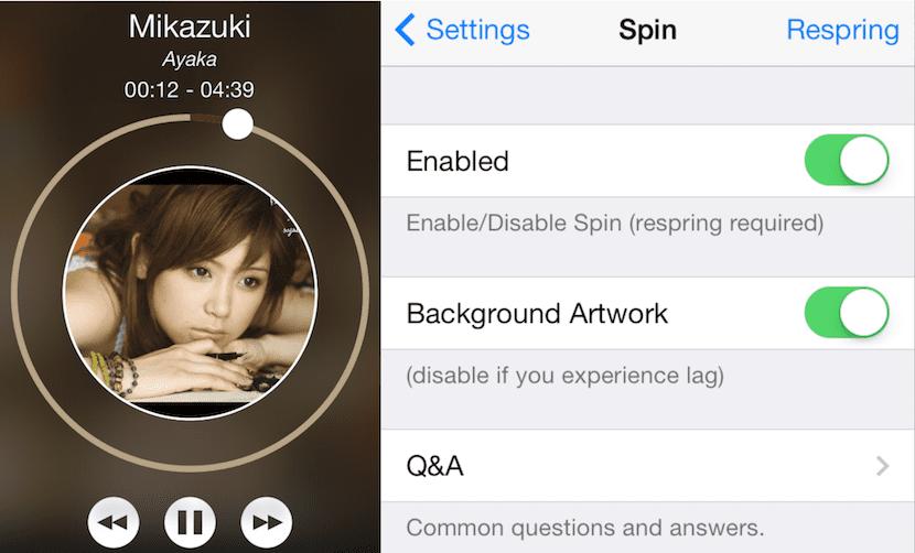 Tweak para iOS Spin