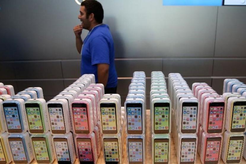 iPhone 5C en tienda