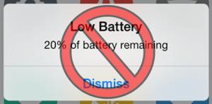eliminar sonido batería baja iPhone