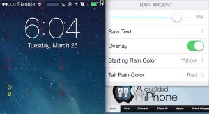 Añadir efecto lluvia Lockscreen