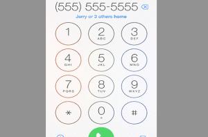 botón llamada estilo iOS 7.1