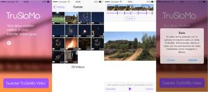 Capturas de la aplicación TruSloMo