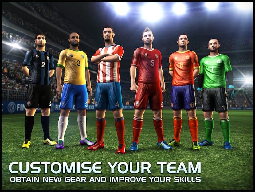 Personalización del equipo Final Kick