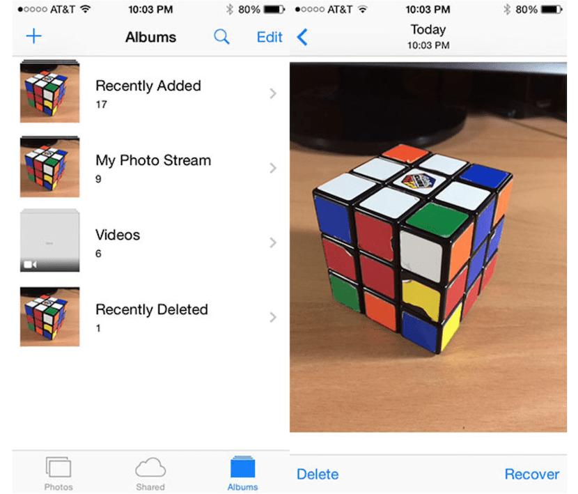 Captura de la aplicación Fotos